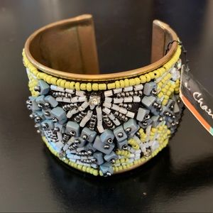 Beaded cuff bracelet by Charlie Paige is NWT